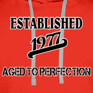 Established 1977 T-shirts - Mannen Premium hoodie