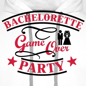 Bachelorette Game Over T-skjorter - Premium hettegenser for menn