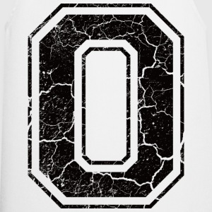 Letter O in the grunge look Camisetas - Delantal de cocina