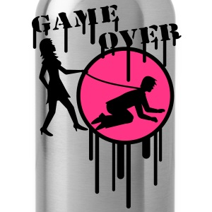 game_over_graffiti_stamp Camisetas - Cantimplora