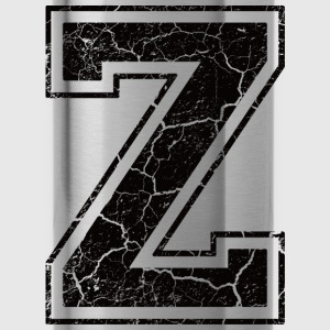 Letter Z in grunge look Camisetas - Cantimplora