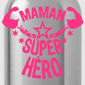 maman super hero etoile muscle bras star Tee shirts - Gourde