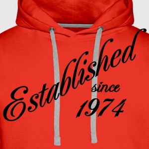 Established since 1974 T-shirts - Mannen Premium hoodie