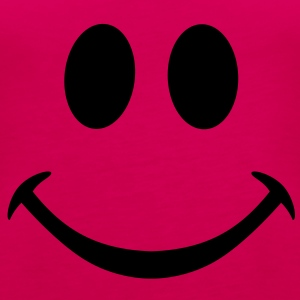 smiley smily pink girl happy heureux cool fun - Débardeur Premium Femme
