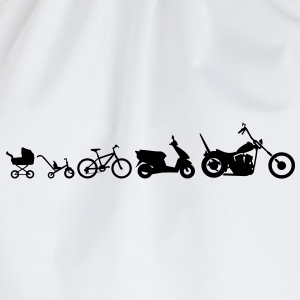 Motorcycle Evolution Chopper  T-shirts - Gymtas