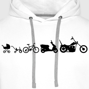 Motorcycle Evolution Chopper  T-shirts - Mannen Premium hoodie
