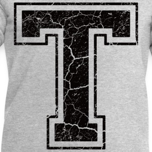 Letter T in grunge look T-Shirts - Men's Sweatshirt by Stanley & Stella