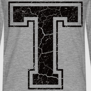 Letter T in grunge look T-Shirts - Men's Premium Longsleeve Shirt