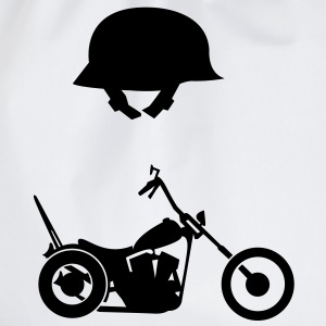 Chopper en helm  T-shirts - Gymtas