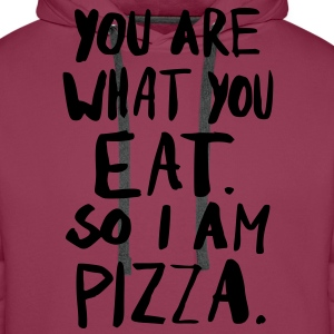 I am Pizza T-shirts - Premiumluvtröja herr