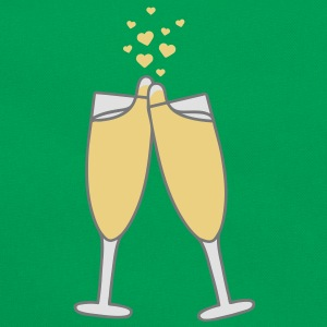 champagne_with_hearts T-shirts - Retro taske