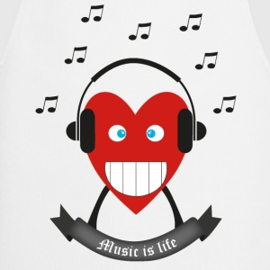 Music is life T-shirts - Keukenschort