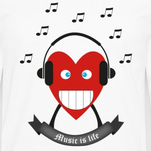 Music is life T-shirts - Mannen Premium shirt met lange mouwen