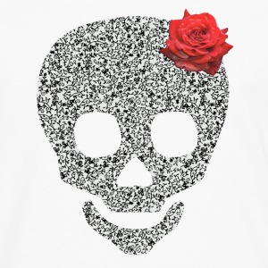 skull and rose T-skjorter - Premium langermet T-skjorte for menn