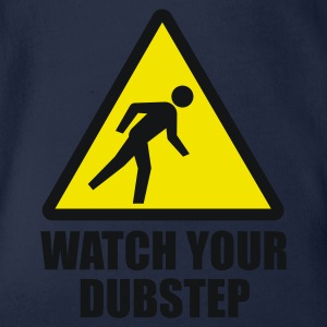 Watch your Dubstep 2c T-Shirts - Baby Bio-Kurzarm-Body