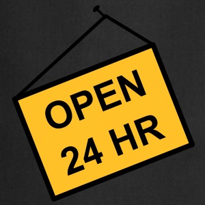 open for 24 hours - Cooking Apron