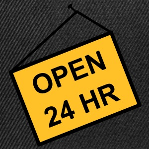 open for 24 hours - Snapback Cap