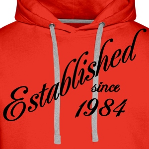 Established since 1984 T-shirt - Felpa con cappuccio premium da uomo