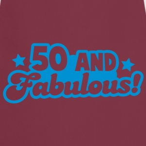 50 Fifty and fabulous! Humour Birthday design T-Shirts - Cooking Apron