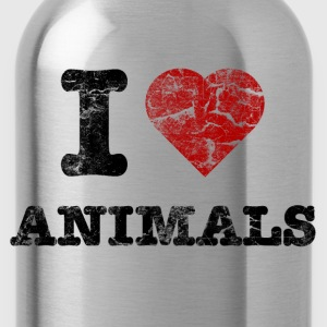 i_love_animals_vintage T-Shirts - Trinkflasche