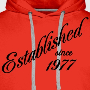 Established since 1977 T-shirts - Mannen Premium hoodie