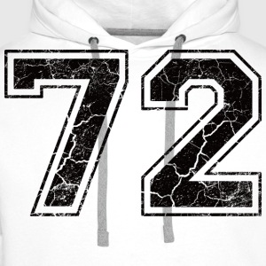 Number 72 in the grunge look T-shirts - Premiumluvtröja herr