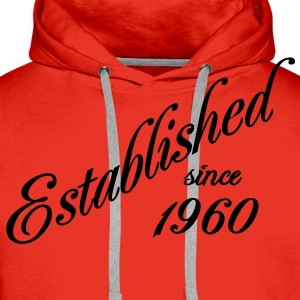 Established since 1960 T-shirts - Premiumluvtröja herr