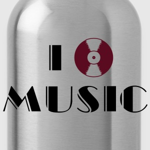 I Listen Music vinyl record  T-Shirts - Water Bottle