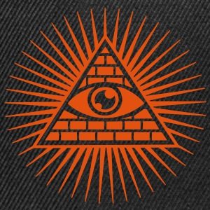 all seeing eye -  eye of god / pyramid - symbol of Omniscience & Supreme Being T-shirts - Snapback cap