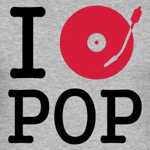 :: I dj / play / listen to pop :-: - Herre Slim Fit T-Shirt