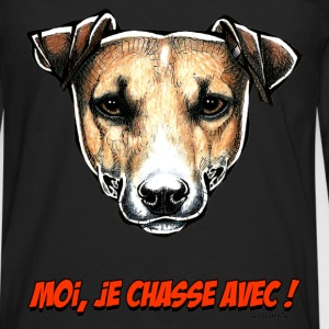 Le Jack Russell, Moi Je Chasse Avec ! Tee shirts - T-shirt manches longues Premium Homme