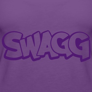 Swagg graff outline T-Shirts - Women's Premium Tank Top