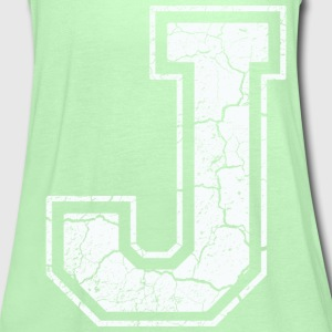 Letter J in white in the used look T-Shirts - Women's Tank Top by Bella
