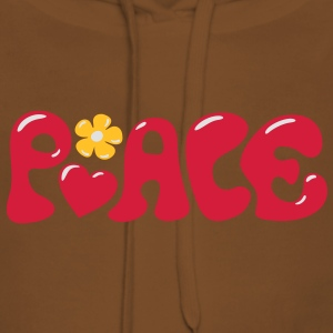 3-D Peace. Heart and flower - Love & Happiness Camisetas - Sudadera con capucha premium para mujer