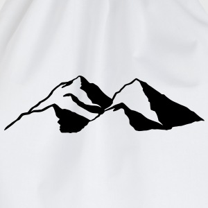 Berg Berge Gebirge Mountains Gipfel Alpen T-Shirts - Turnbeutel
