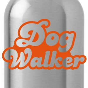 dog walker cute font pets helpful Shirts - Water Bottle