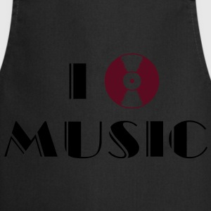 I Listen Music vinyl record  T-Shirts - Cooking Apron