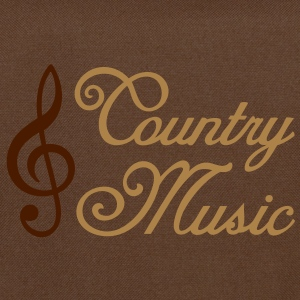 Country Music * Clef * Treble Clef T-shirts - Skuldertaske