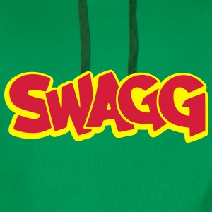 Swagg graff outlined T-Shirts - Men's Premium Hoodie