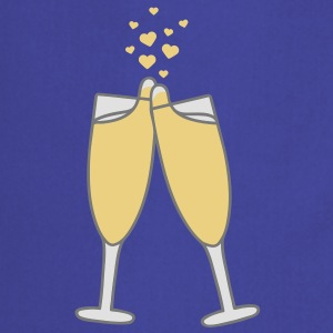 champagne_with_hearts T-shirts - Forklæde