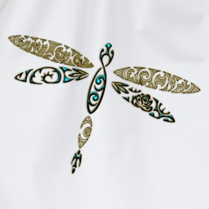 Libelle, Dragonfly, Tattoo Style DD T-Shirts - Turnbeutel