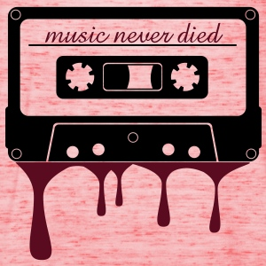 music never died cassetta  Magliette - Top da donna della marca Bella