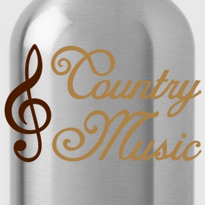 Country Music - Clef T-Shirts - Water Bottle