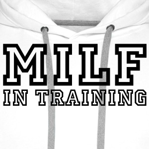 milf in training T-Shirts - Men's Premium Hoodie