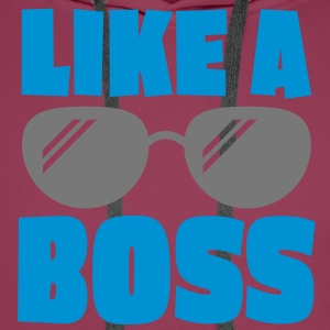 like a boss 2c Shirts - Men's Premium Hoodie