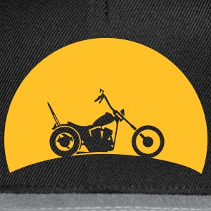 Chopper in the sunset  T-Shirts - Snapback Cap
