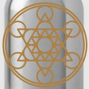 Metatrons Cube, Star Tetrahedron,  Flower of Life/ T-shirts - Drinkfles