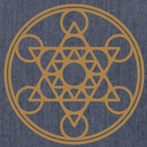 Metatrons Cube, Star Tetrahedron,  Flower of Life/ Magliette - Borsa in materiale riciclato
