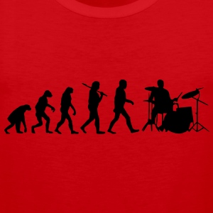 evolution of drums T-Shirts - Männer Premium Tank Top