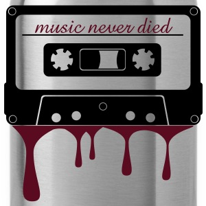 music never died cassette  T-shirts - Drinkfles